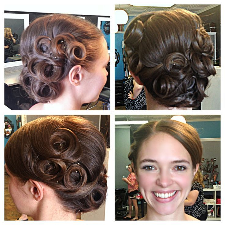pin curls photo