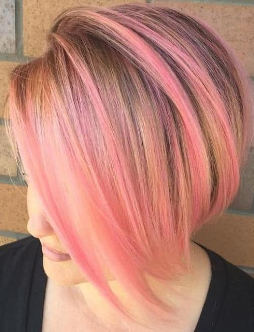 10 Gorgeous Pink Highlights On Blonde Hair For Women
