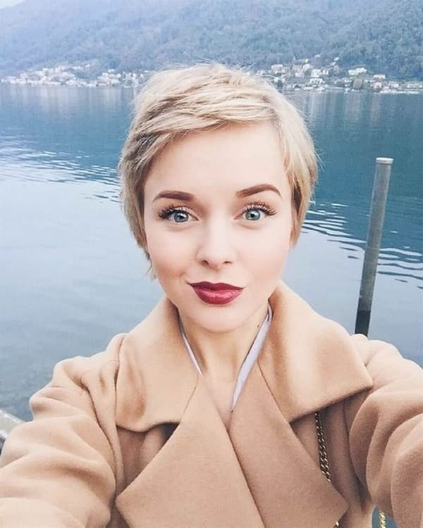 50 Ideal Pixie Cuts For Women With Round Face 2020