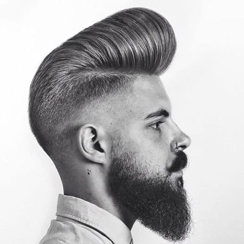 classic pompadour with undercut hair