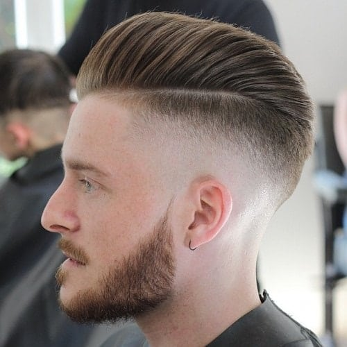 pompadour fade with undercut