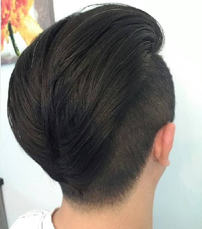 pompadour hairstyles with undercut