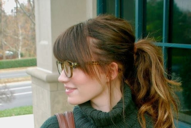 Ponytail With Bangs 10 Styles To Turn Drab To Fab