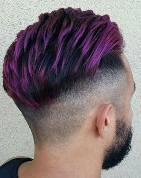 7 Funky Purple Hairstyles For Men 2019 Hairstylecamp