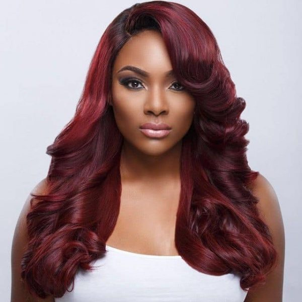 20 Most Flattering Hair Color Ideas For Dark Skin 2021