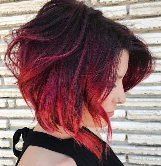 30 Flattering Red Ombre On Black Hair Ideas 2020 Trends