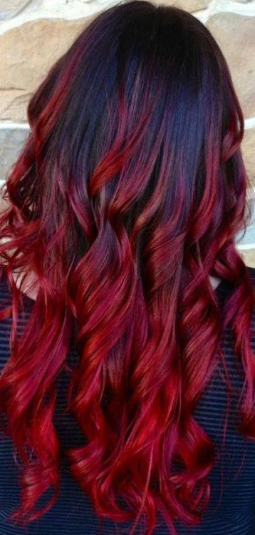 Wondrous 20 Classy Red Ombre On Black Hair Ideas For Women Hairstylecamp Natural Hairstyles Runnerswayorg