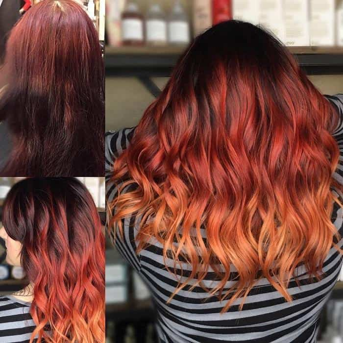20 Classy Red Ombre On Black Hair Ideas For Women