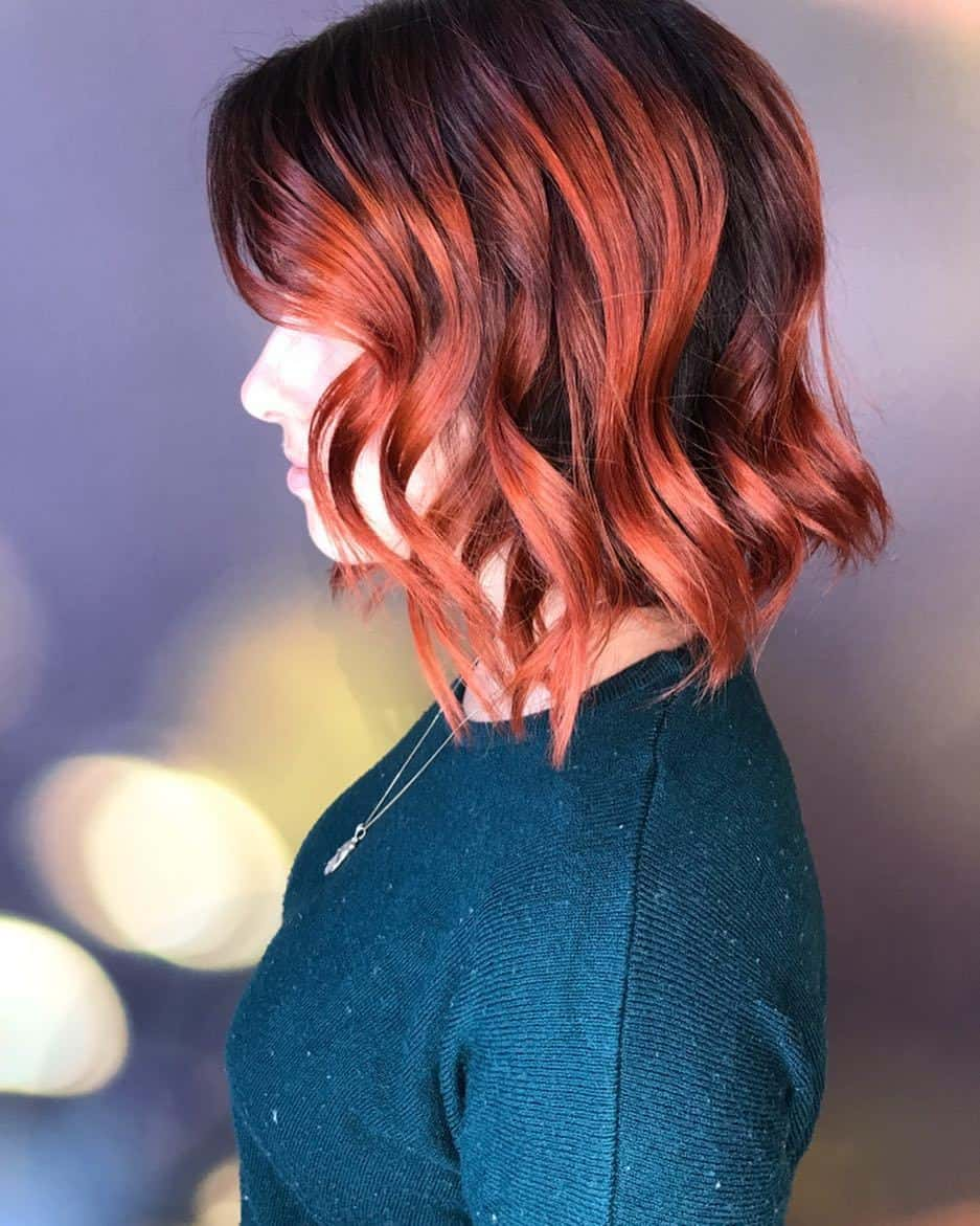 10 Solid Red And Red Ombre Color Ideas To Boost Short Hair