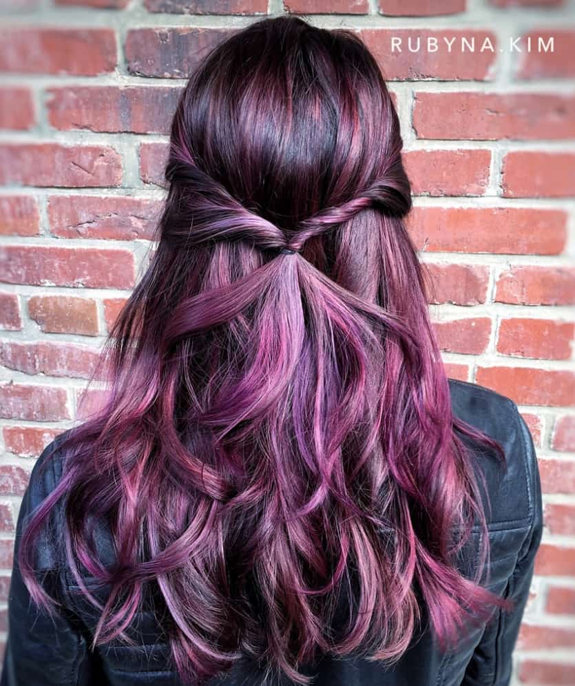 10 Fresh Hairstyles With Red Violet Hair Colors Hairstylecamp