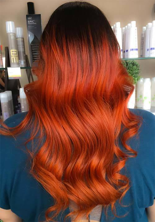 Dark Brown Red Orange Hair Color Www Pixshark Com