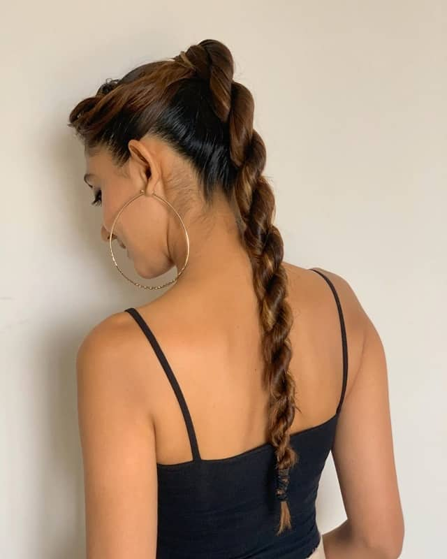 rope ponytail