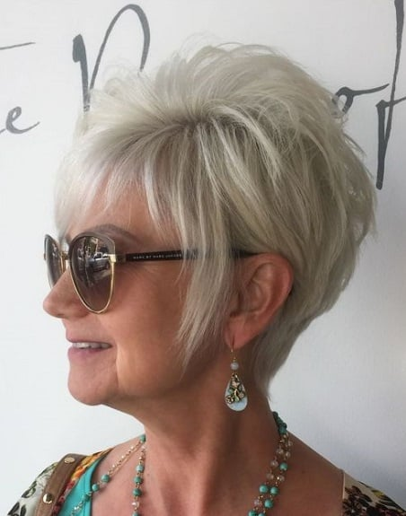 Try out a few different styles to see which one suits you best. There are plenty of different options for short hairstyles for women over 50 with round ...