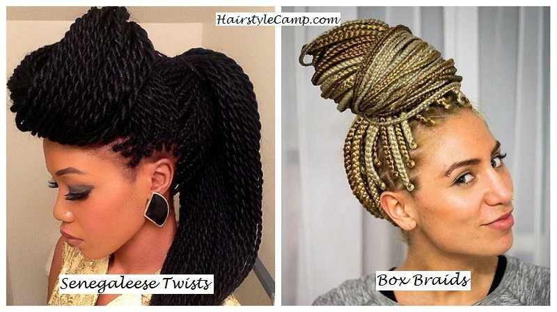 senegaleese twists and box braids difference