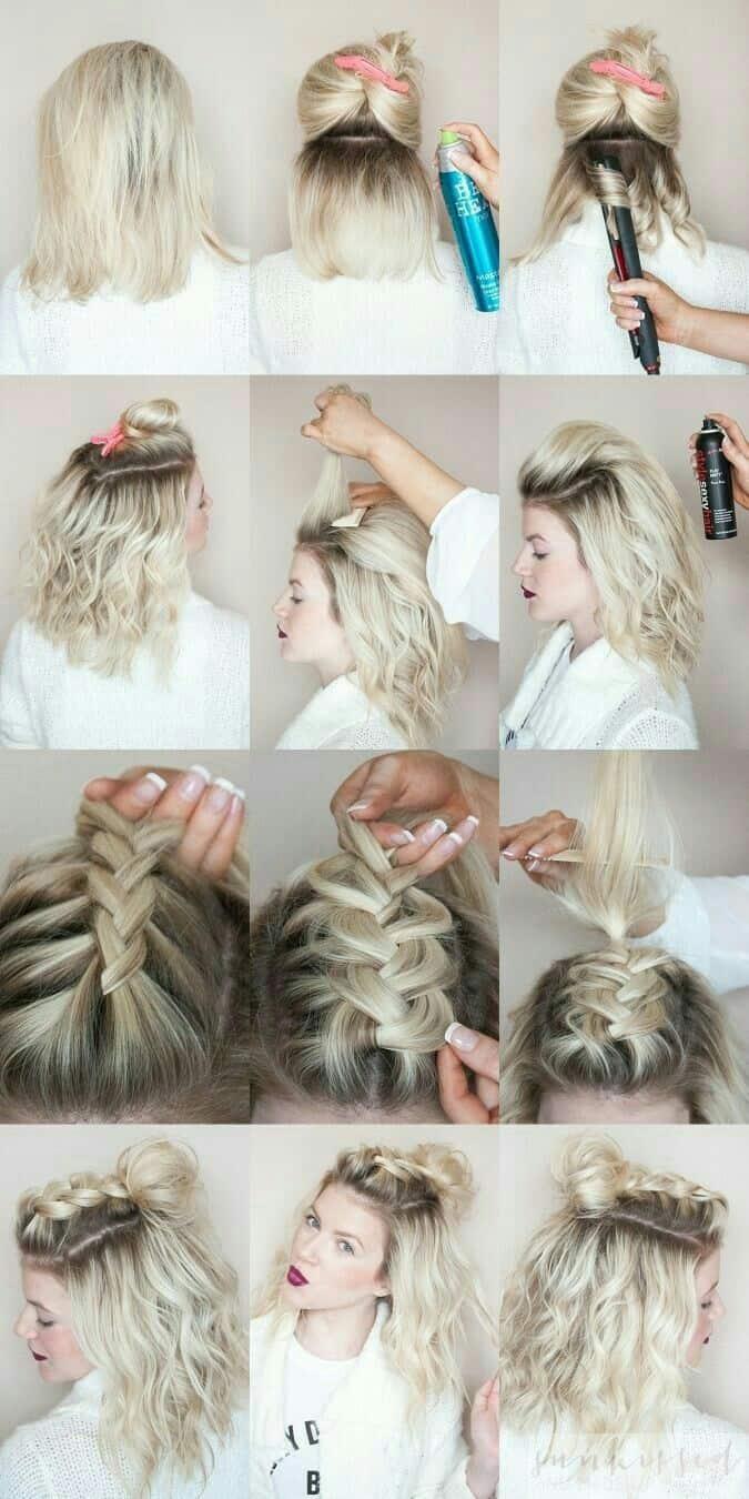 short braid hairstyle for women