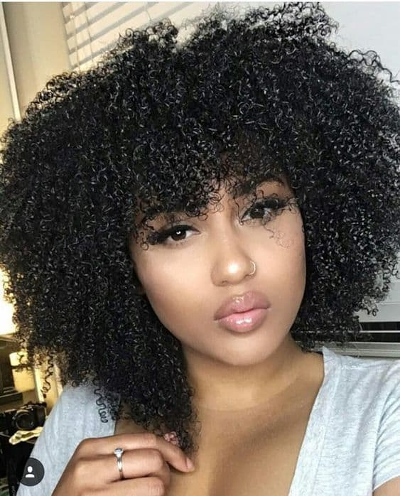 Short Curly Hair With Bangs Girls 78