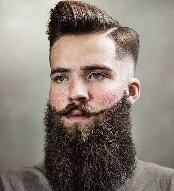 23 Short Hairstyles With Long Beard For Rugged Manly Look