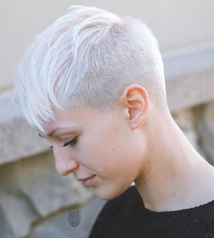 15 Short White Hair Color Ideas Styles For 2020 Hairstylecamp