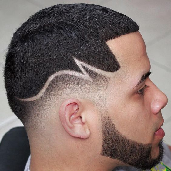 Creative Haircut Designs With Lines