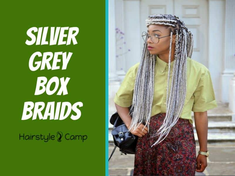 10 Irresistable Silver Grey Box Braids That Scream Style