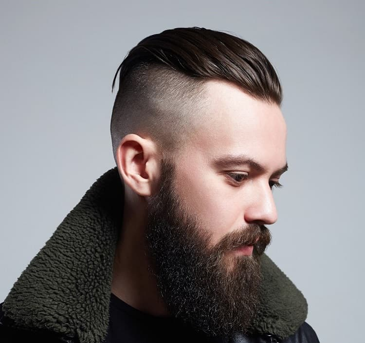 slicked back hair for men
