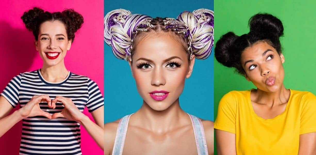space buns for girls