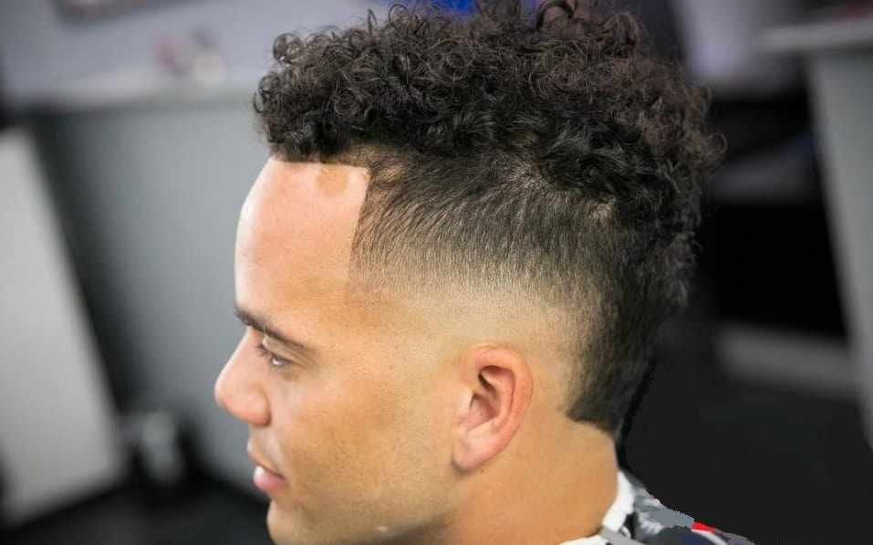 12 Temp Fade Hairstyles With Curls Waves For Badass Men