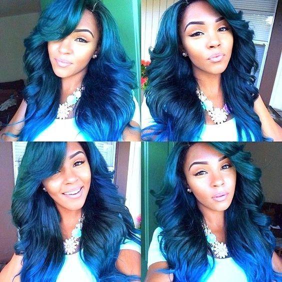 trendy pastel blue hair color