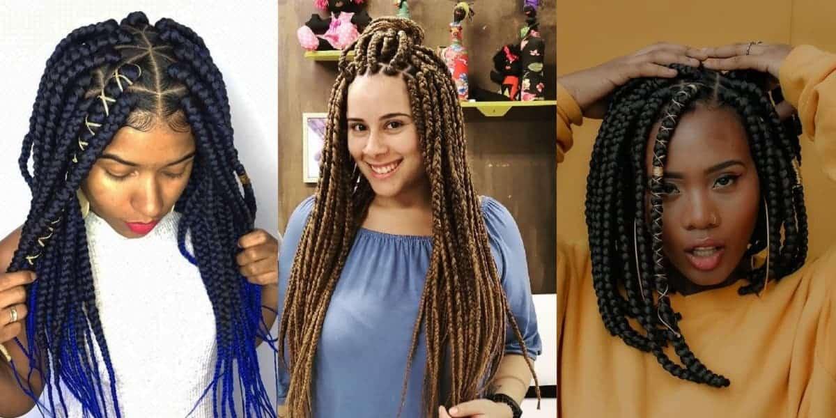 triangle braids styles