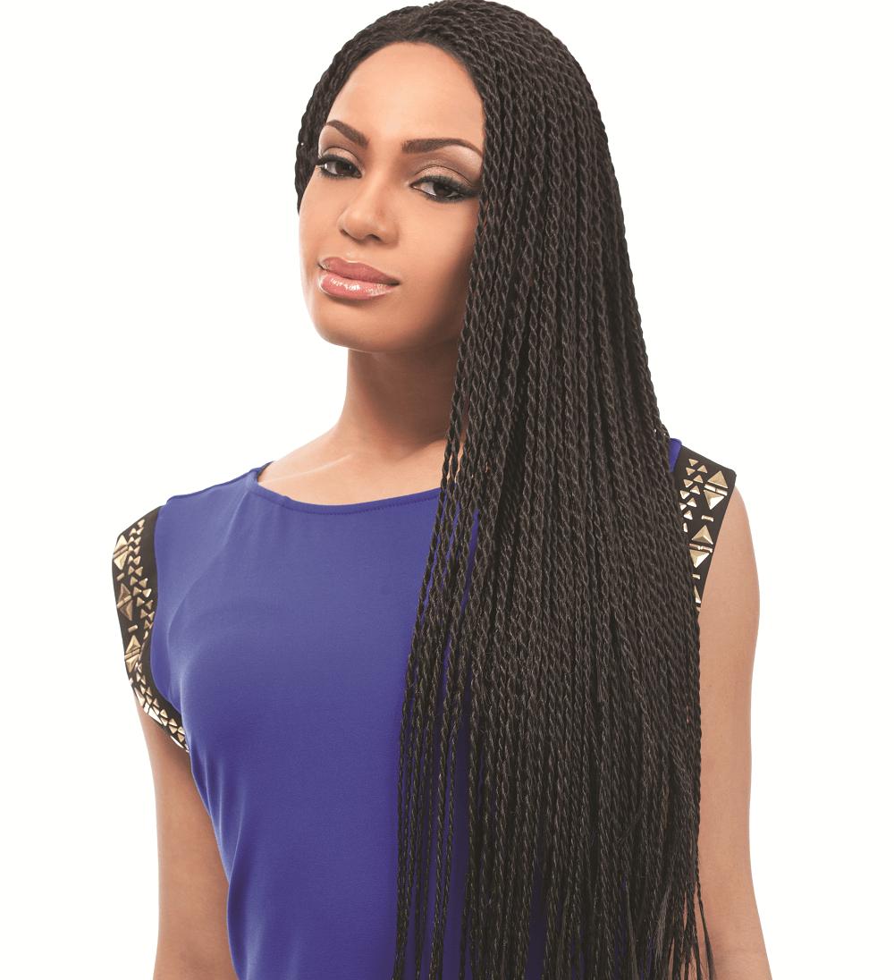 Thin twist braids for women