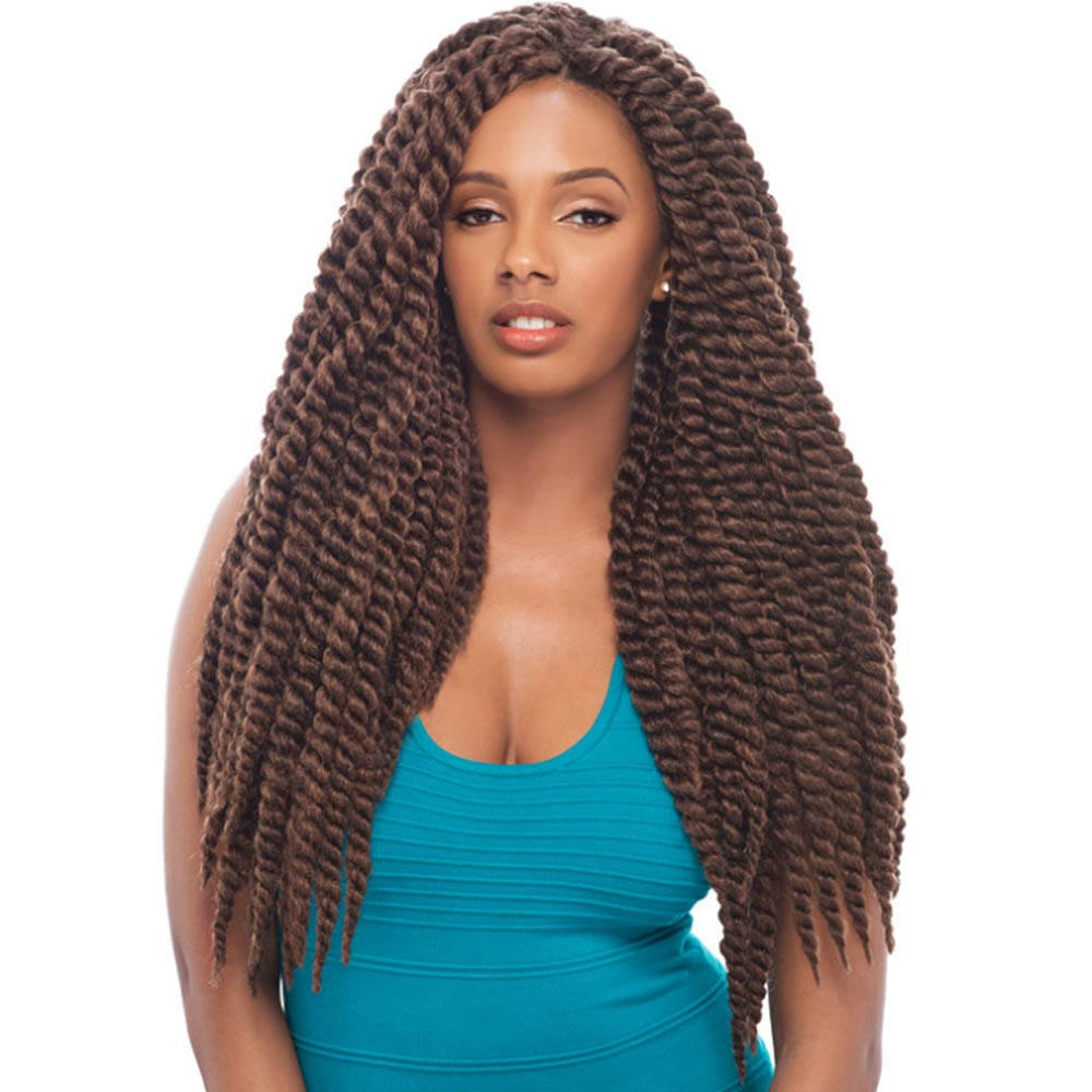 Brown color twist braids for girl