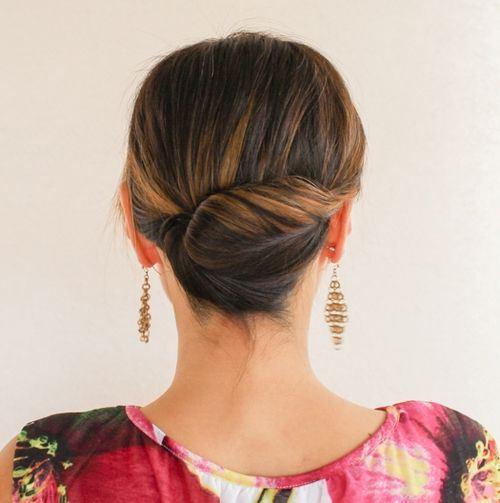medium hair updos for women