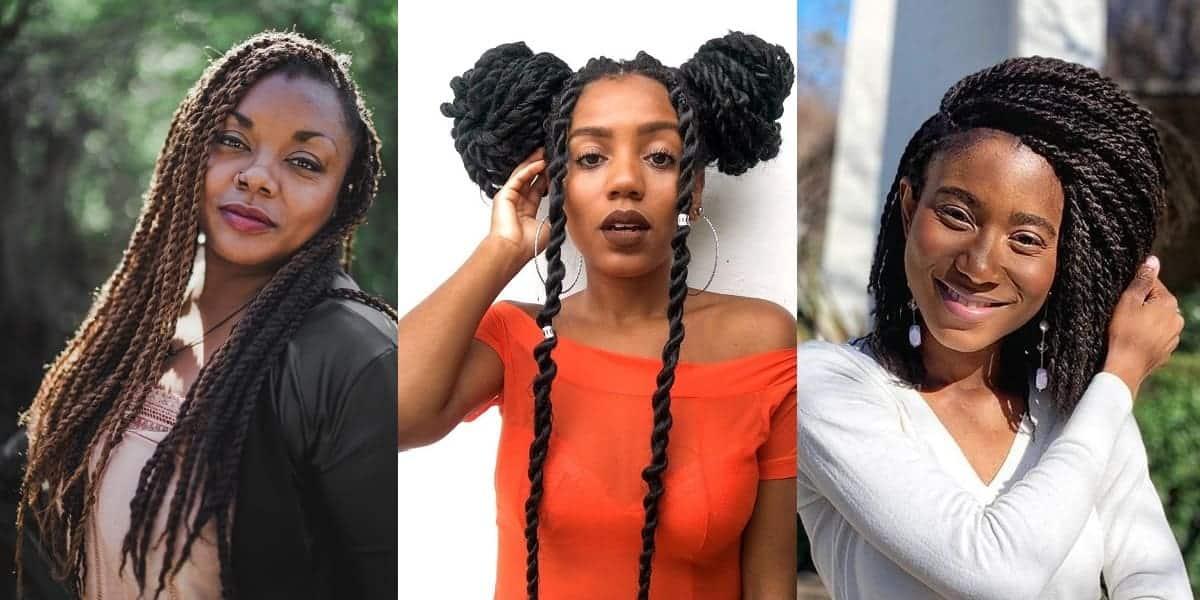 twist braided hairstyles for women