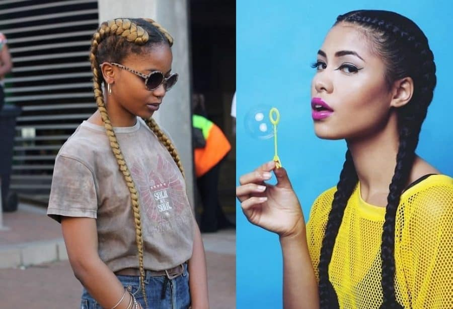 20 Two Cornrow Styles To Stay Glamorous In 2021