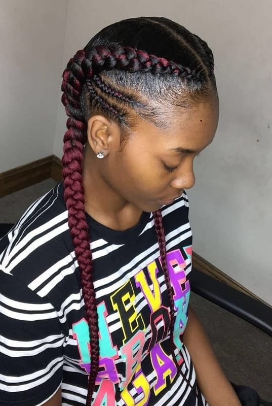 10 Amazing Two French Braids Styles For Black Women