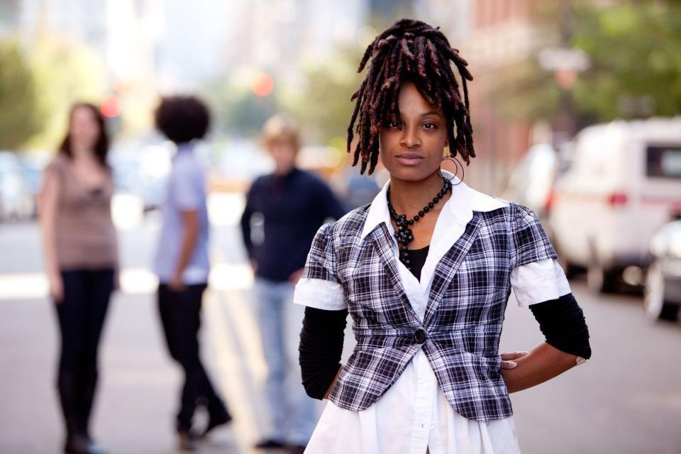 unique black dreadlock hairstyle for women