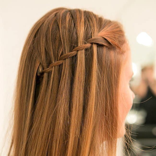 5 Entrancing Waterfall Braid With Curls For Special Occasions