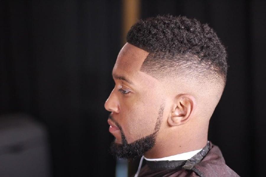 Taper Haircut Black Men Waves 105