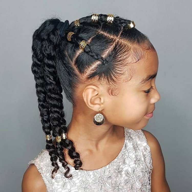 50 Perfect Ponytail Hairstyles For Little Black Girls