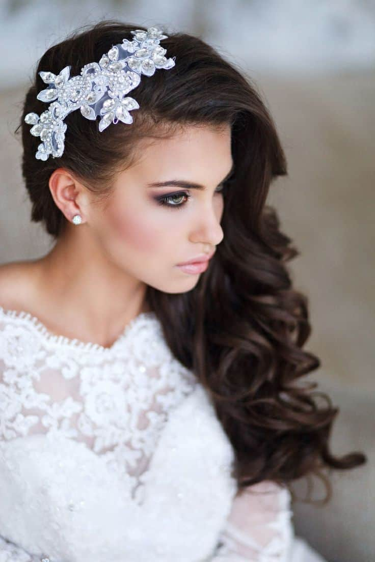 Wedding Hair Down With Headband   www.topsimages.com