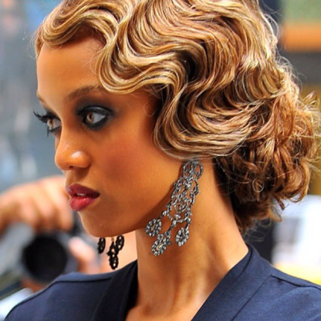 Waves hairstyle for black women