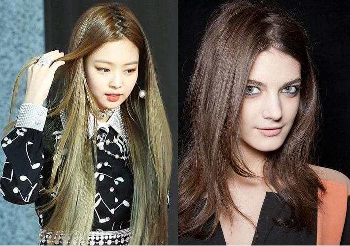 зигзагообразный пробор для прямых волос
